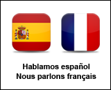We speak spanish and french, Hablamos español, Nous parlons français