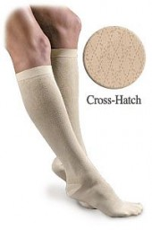 Activa Sheer Therapy Women's Cross-Hatch Pattern Trouser Socks 15-20 mmHg