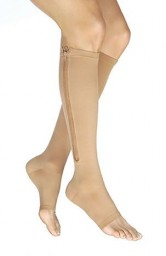Jobst Vairox 30-40 mmHg Open Toe Knee Highs with Zipper