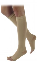 Sigvaris 500 Natural Rubber 50-60 mmHg Open Toe Knee Highs - 505C