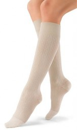 Jobst Women's soSoft Brocade Pattern 15-20 mmHg Closed Toe Knee High Support Socks