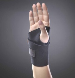 SAI Black Neoprene Wraparound Wrist Support