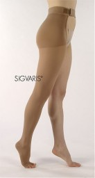 Sigvaris 860 Select Comfort 20-30 mmHg Open Toe Thigh with Waist Attachment - 862W