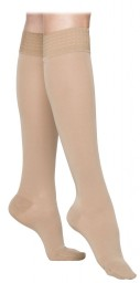 Sigvaris 860 Select Comfort 20-30 mmHg Women's Closed Toe Knee Highs w/ Silicone Grip top - 862C