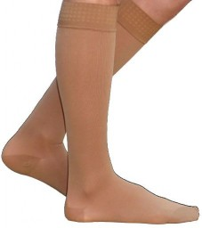 Sigvaris 860 Select Comfort 30-40 mmHg Men's Closed Toe Knee Highs w/ Silicone Grip top - 863C