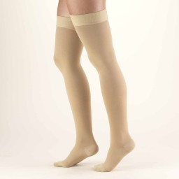 Truform Classic Medical Closed Toe 30-40 mmHg Thigh High (w/ Silicone Dot Top)