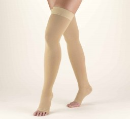 Truform Classic Medical Open Toe 20-30 mmHg Thigh High (w/ Silicone Dot Top)