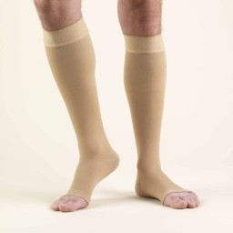 Truform Classic Medical Open Toe 30-40 mmHg Knee Highs (w/ Silicone Dot Top)