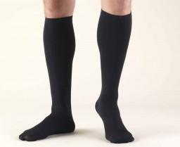 Truform Men's 8-15 mmHg Dress Knee High Socks