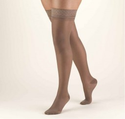Truform Women's Lites 15-20 mmHg Thigh High Support Stockings