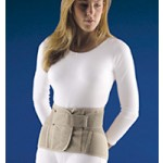 "Soft Form Lumbar Sacral Back Support w/ Flexible stays 11"" Height"