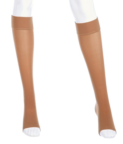Mediven Plus 30 40 Mmhg Extra Wide Calf Open Toe Unisex Knee High Stockings With Silicone Top Band